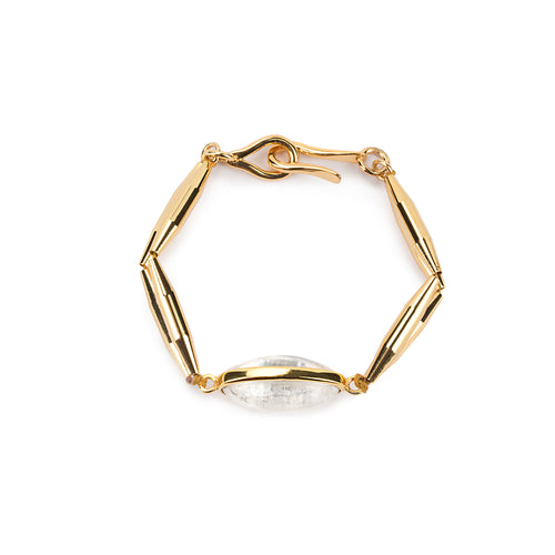 SURYA BRACELET WITH GEOMETRIC TUBES