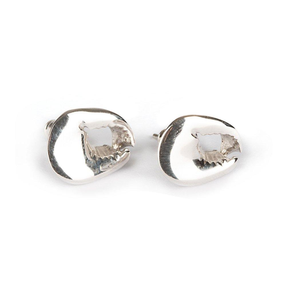 CONCHA CRAB EARRINGS SILVER - Tohum Design