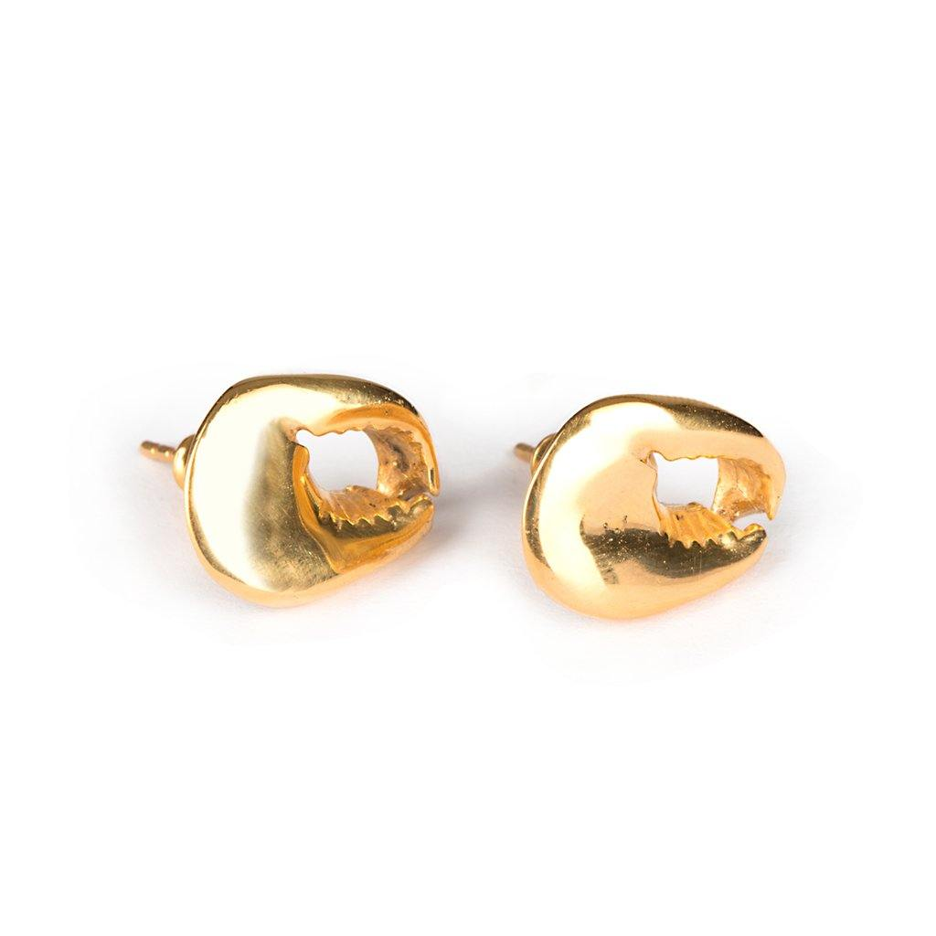 CONCHA CRAB EARRINGS GOLD - Tohum Design
