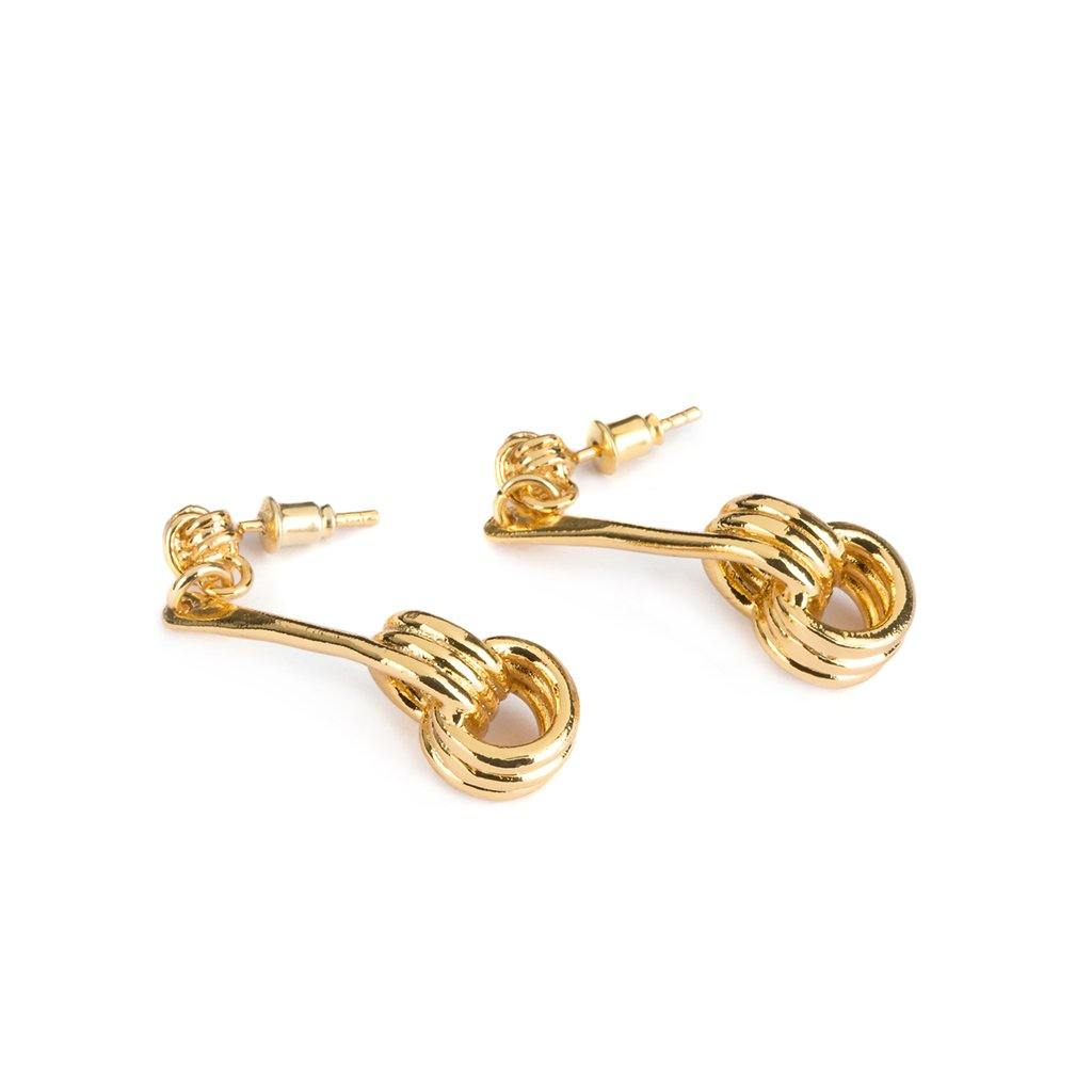LAMU EARRINGS GOLD - Tohum Design