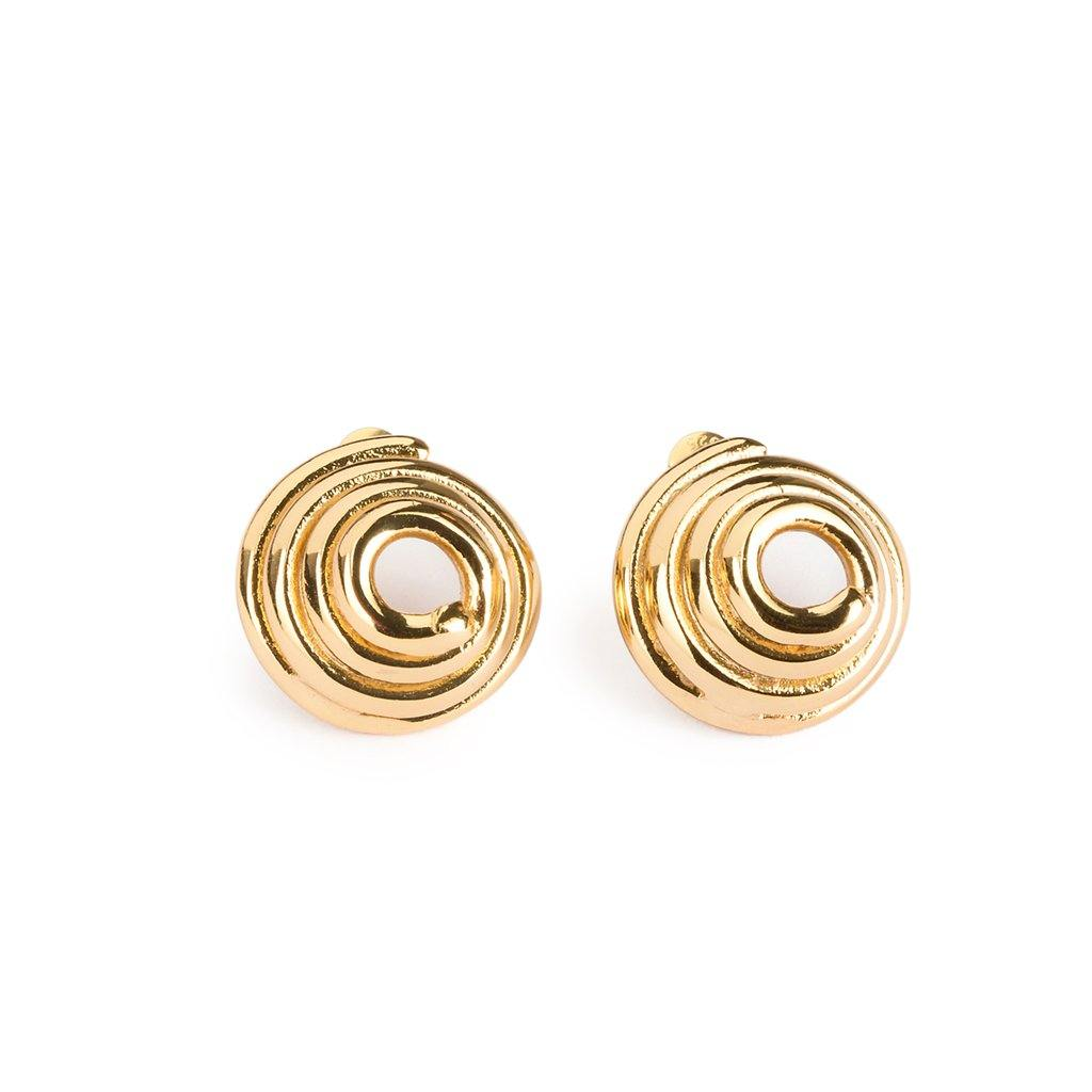 DUNYA GAYA EARRINGS GOLD - Tohum Design