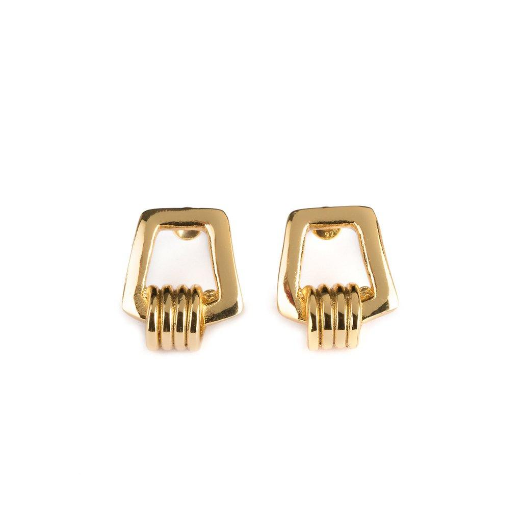 KARO EARRINGS GOLD - Tohum Design