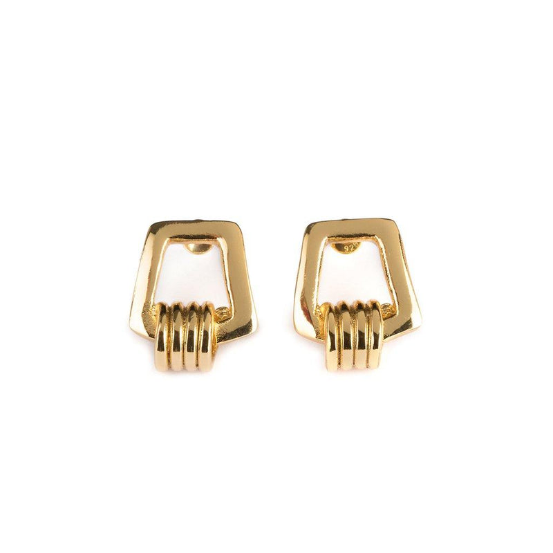 DUNYA KARO EARRINGS GOLD - Tohum Design