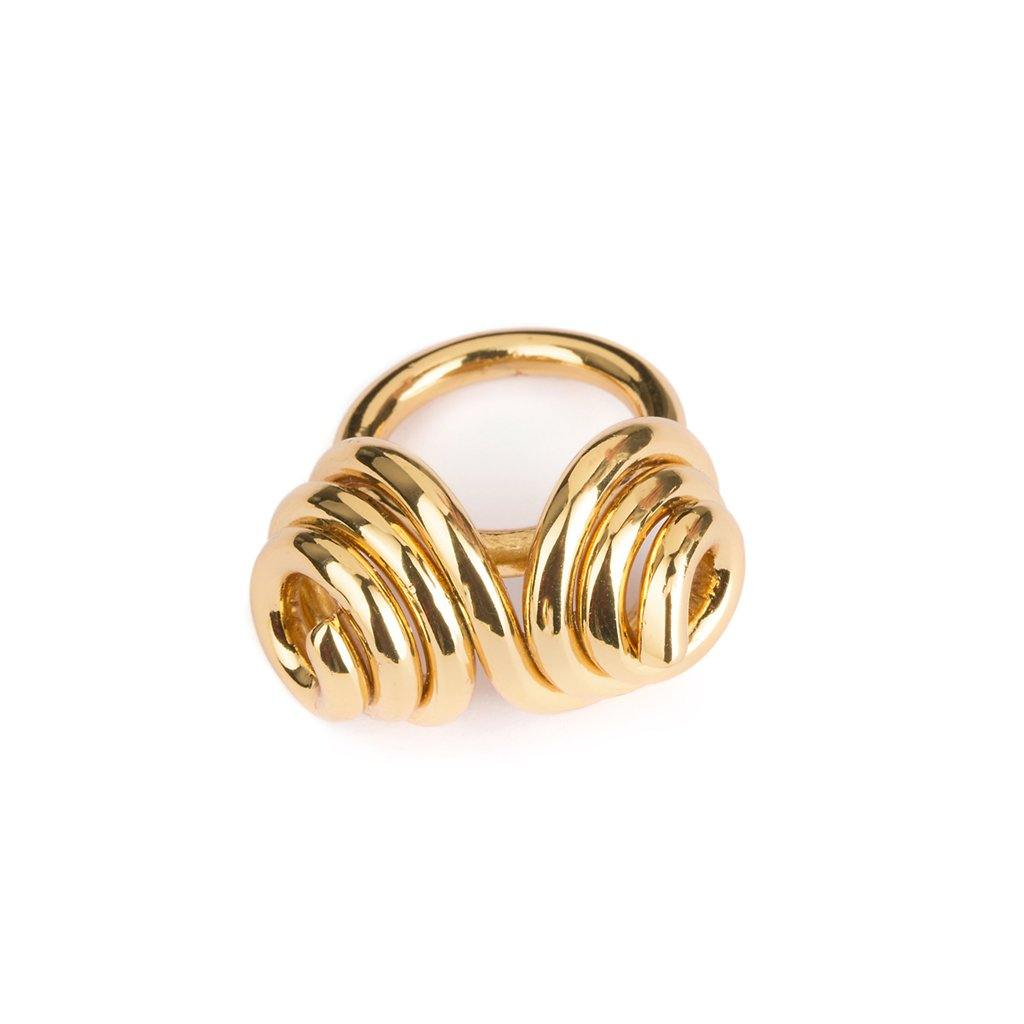DUNYA MOOREA RING IN GOLD - Tohum Design