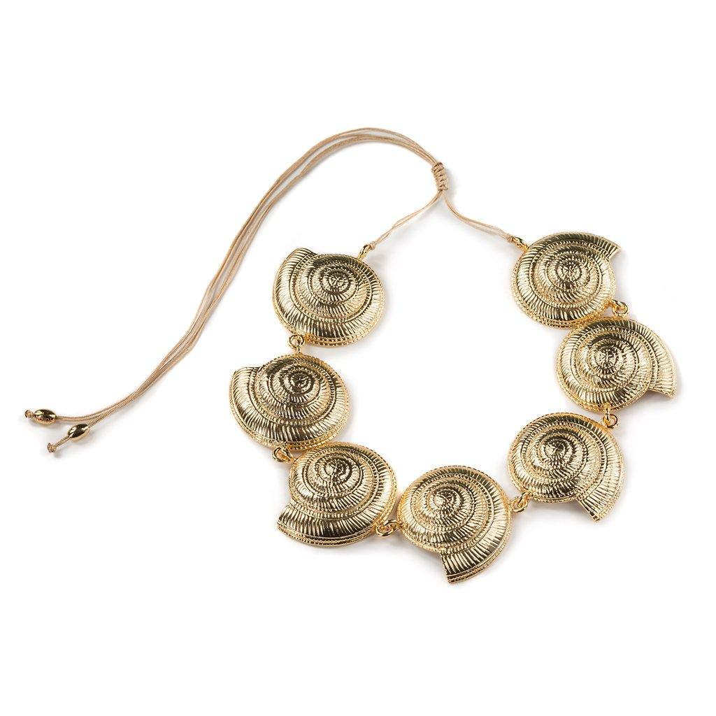 CONCHA ARCHI SHELL NECKLACE IN GOLD - Tohum Design
