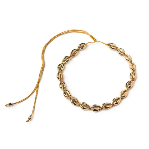 MEDIUM PUKA SHELL NECKLACE IN GOLD