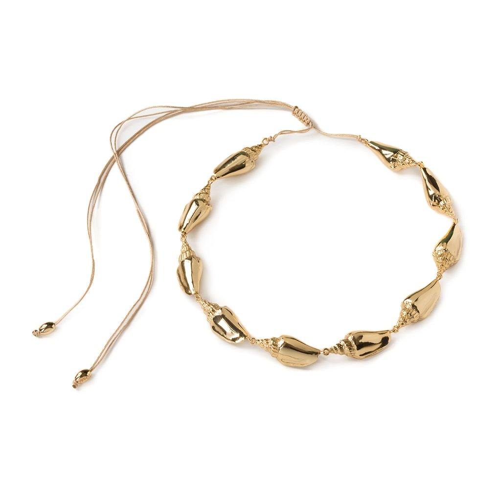 COLUBRA SHELL NECKLACE IN GOLD - Tohum Design