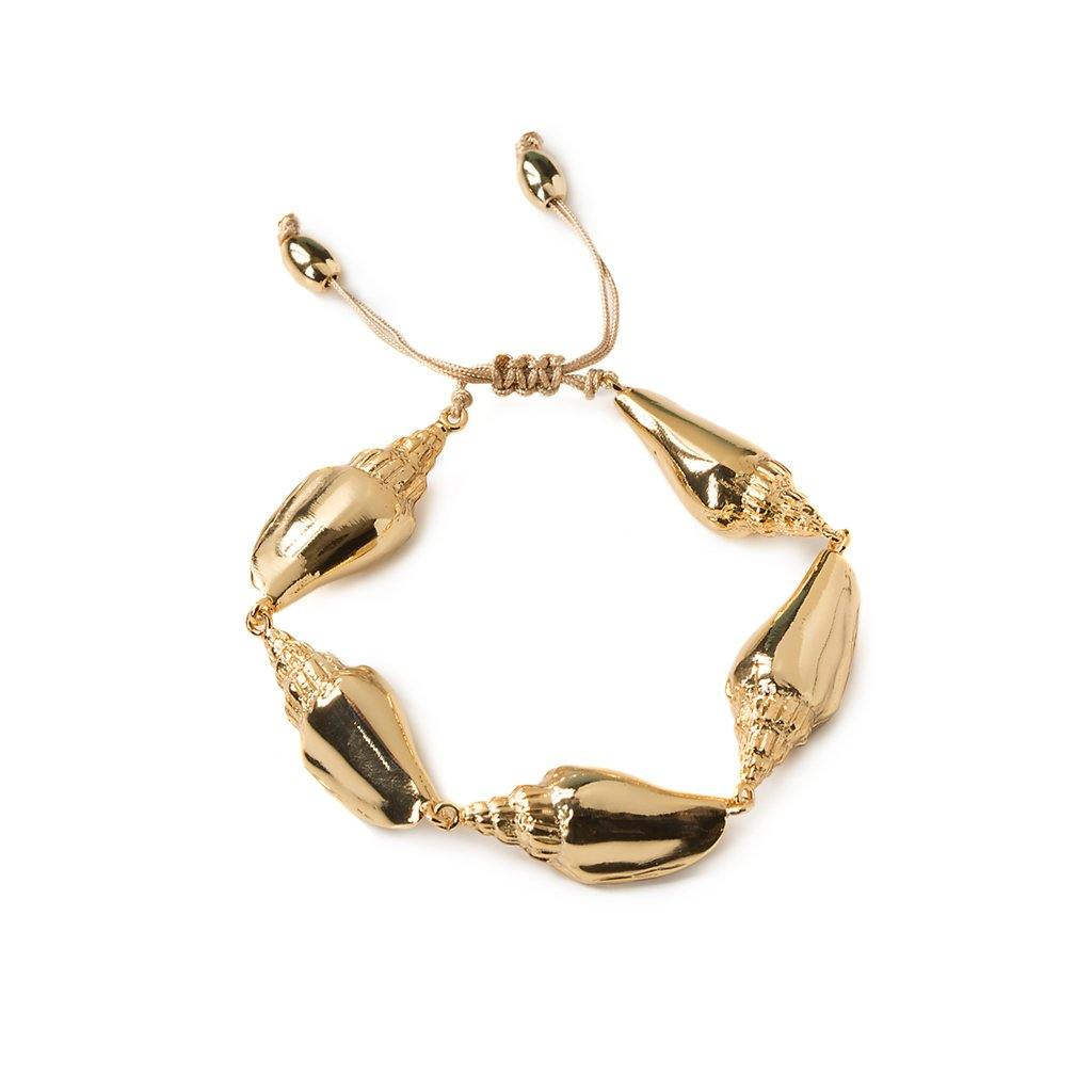 CONCHA COLUBRA SHELL BRACELET IN GOLD - Tohum Design