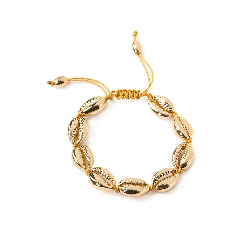 CONCHA MEDIUM PUKA SHELL BRACELET IN GOLD - Tohum Design