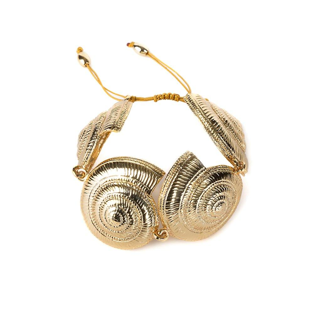 CONCHA ARCHI SHELL BRACELET IN GOLD - Tohum Design
