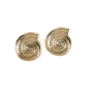 CONCHA ARCHI SHELL EARRINGS IN GOLD - Tohum Design