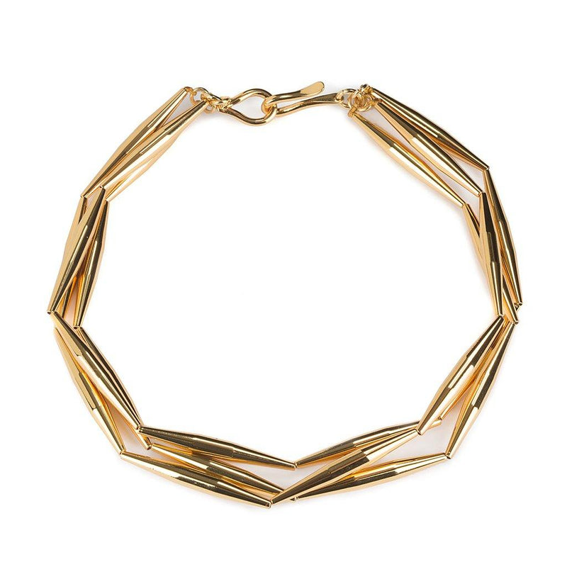 HELIA TRIO CHAIN NECKLACE IN GOLD