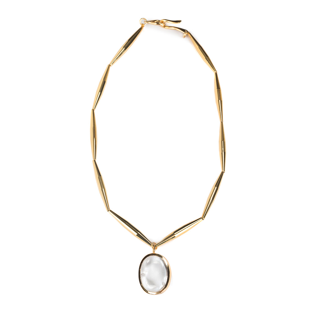 THEIA SMALL PENDANT NECKLACE IN GOLD - Tohum Design