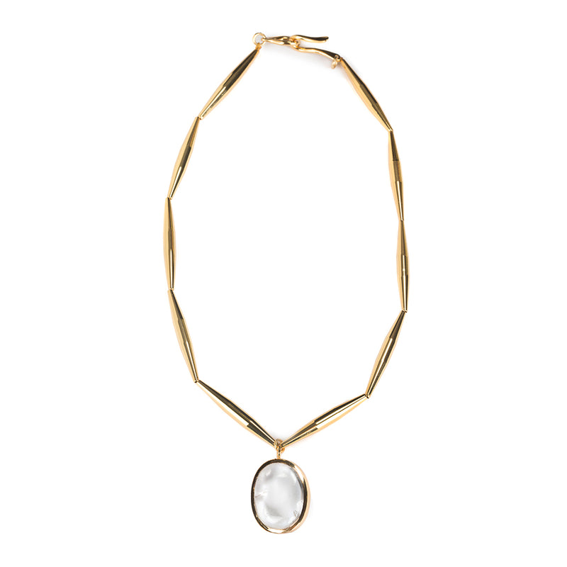 LUMIA THEIA SMALL PENDANT NECKLACE IN GOLD - Tohum Design