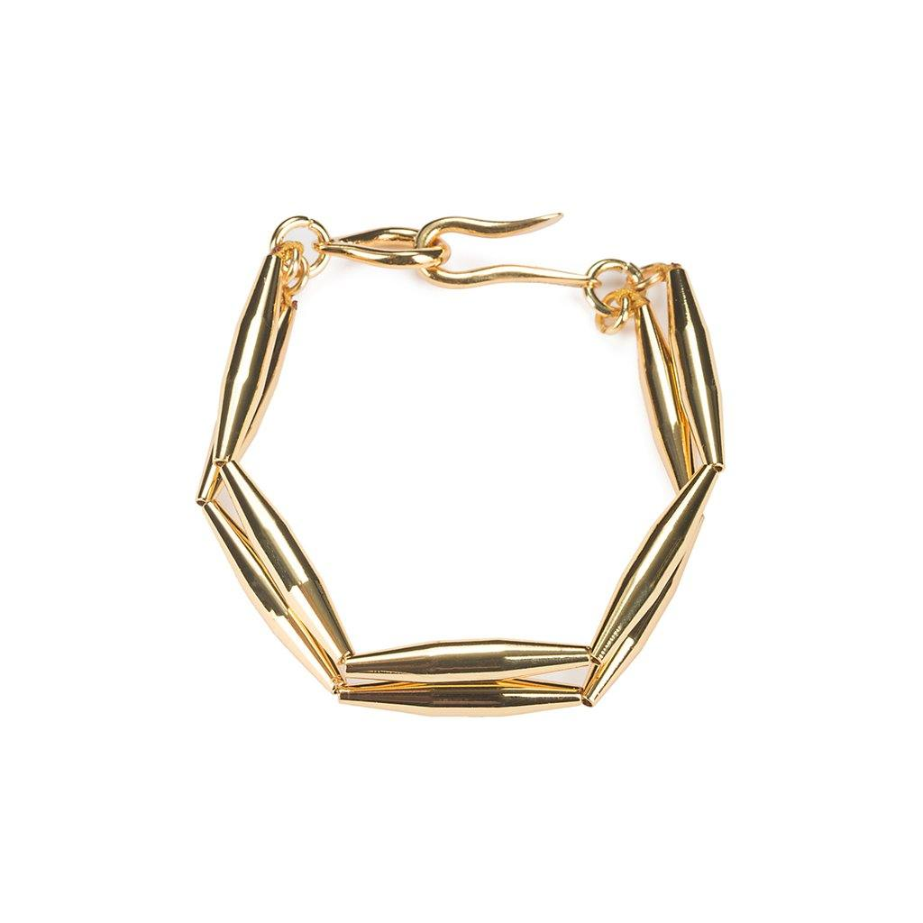 LUMIA MAIA DUO CHAIN BRACELET IN GOLD - Tohum Design