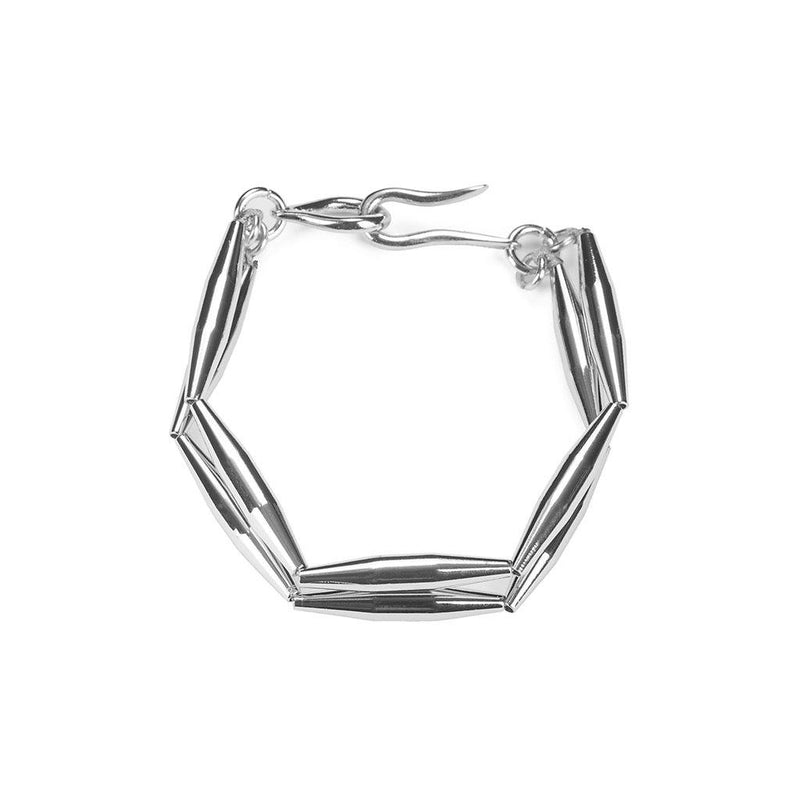 MAIA DUO CHAIN BRACELET IN SILVER
