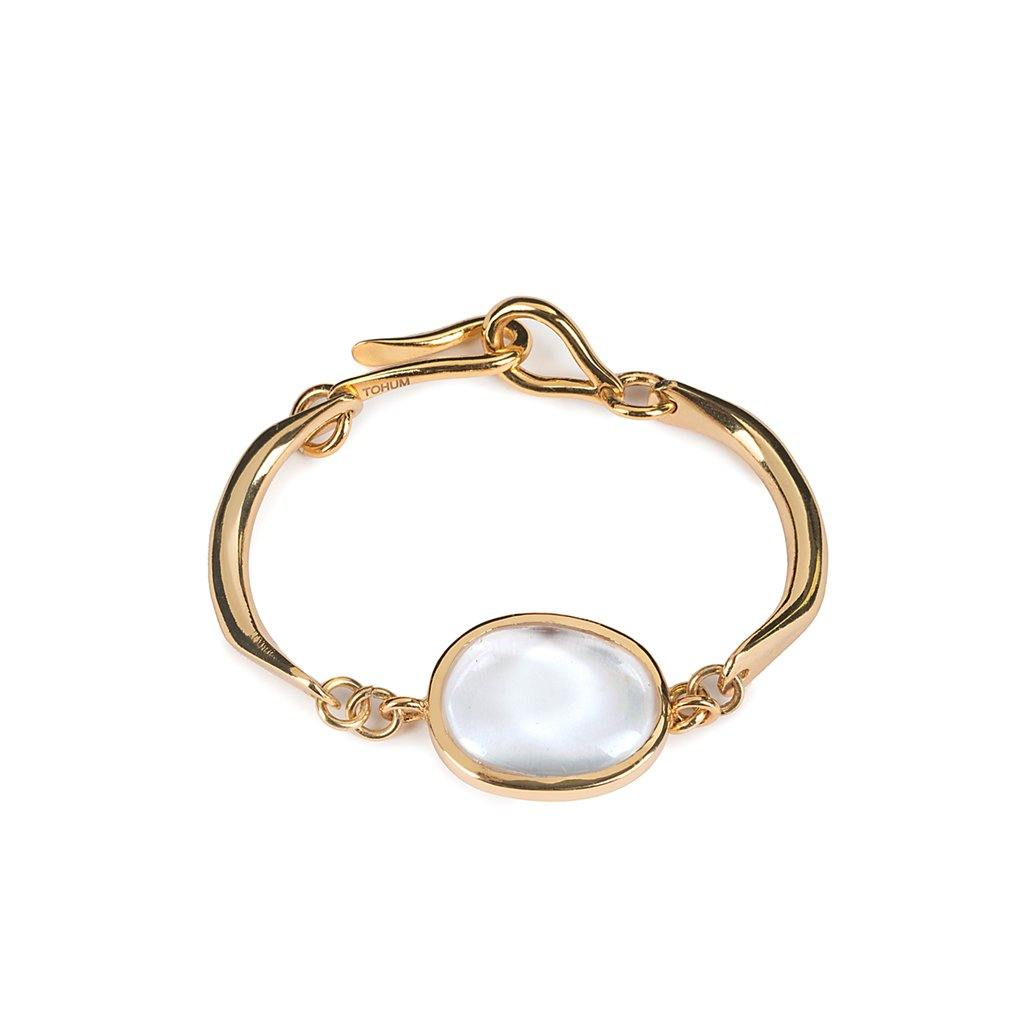 LUMIA RESORT THEIA SMALL BRACELET IN GOLD - Tohum Design