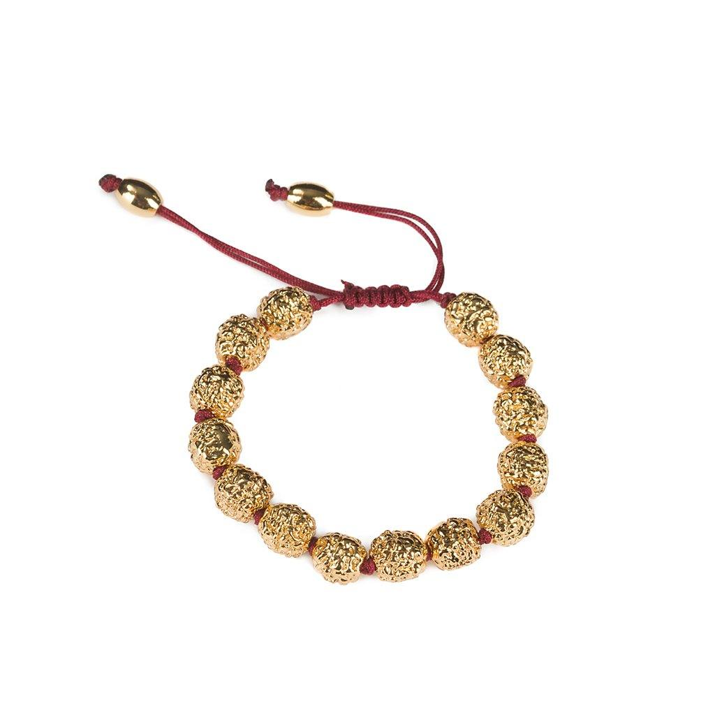 LUMIA RESORT RADRUSHKA BRACELET BURGUNDY IN GOLD - Tohum Design