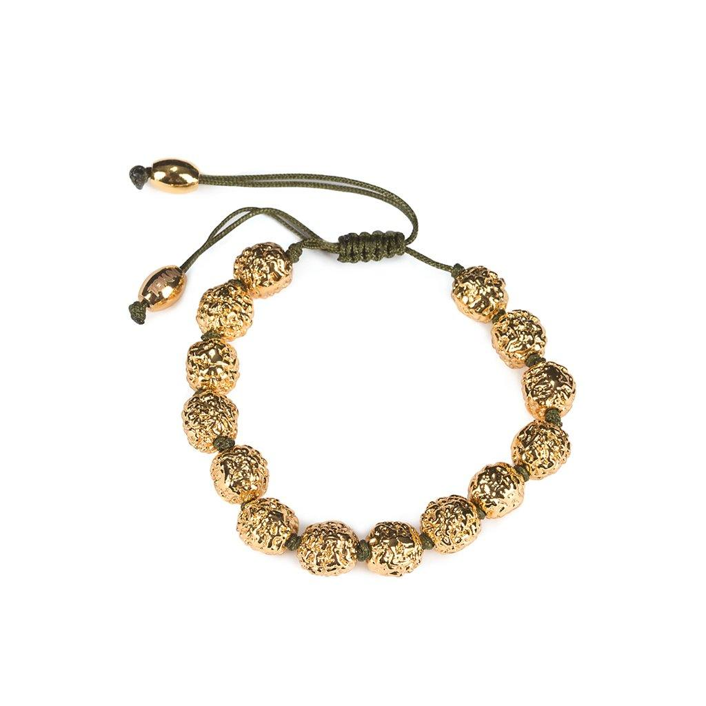 LUMIA RESORT GOLDEN SEEDS BRACELET KHAKI IN GOLD - Tohum Design