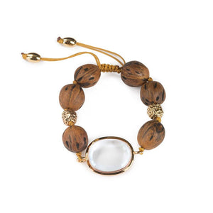 LUMIA RESORT THEIA SMALL BRACELET III IN GOLD - Tohum Design