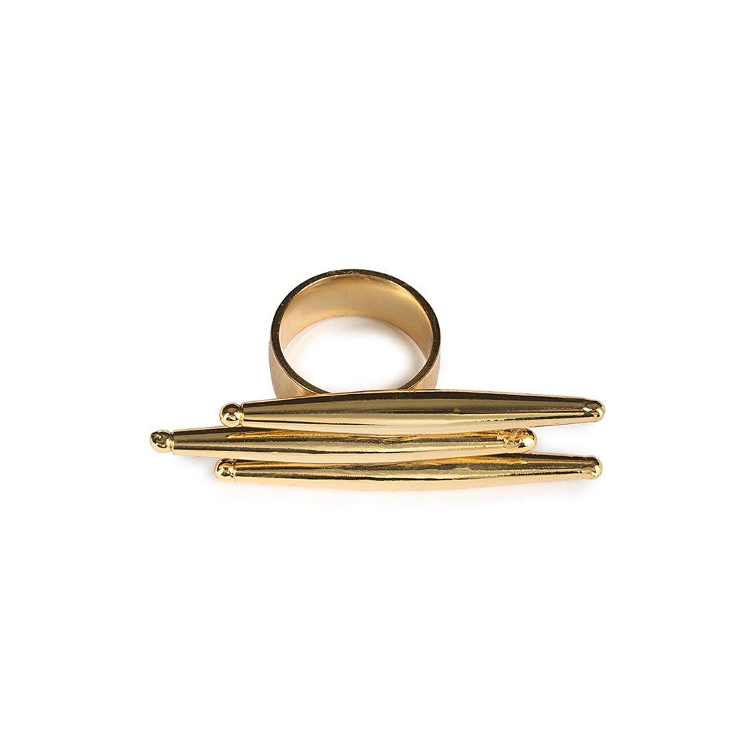 LUMIA HELIA RING IN GOLD - Tohum Design