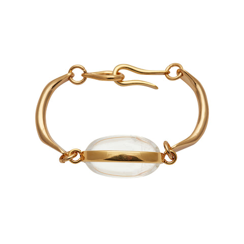 SMALL PUKA SHELL BRACELET IN GOLD