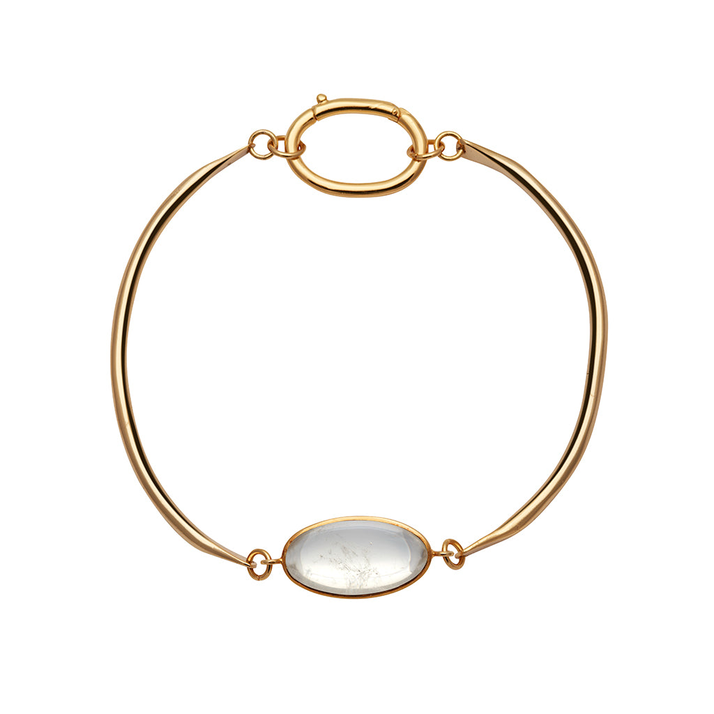 SURYA CHOKER NECKLACE WITH EGGSHAPED ROCK CRYSTAL