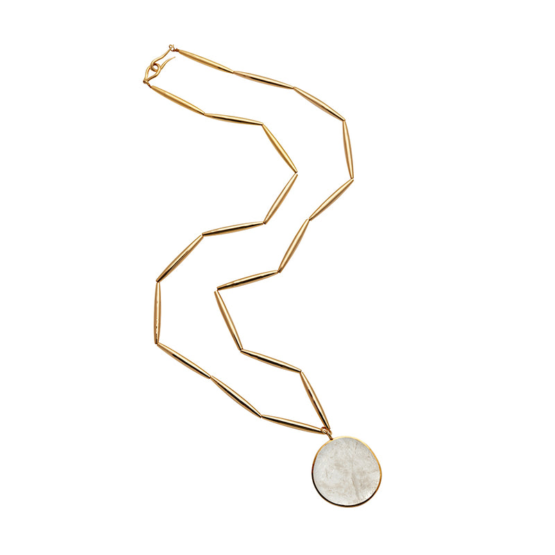 THEIA PENDANT NECKLACE IN GOLD - Tohum Design