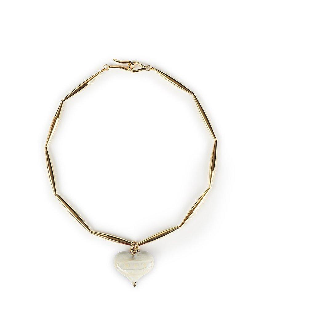 HELIA CUORE NECKLACE IN GOLD