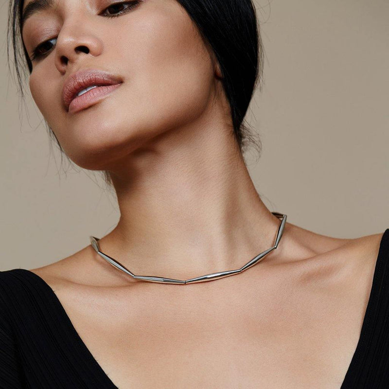 LUMIA HELIA SINGLE CHAIN NECKLACE IN SILVER - Tohum Design