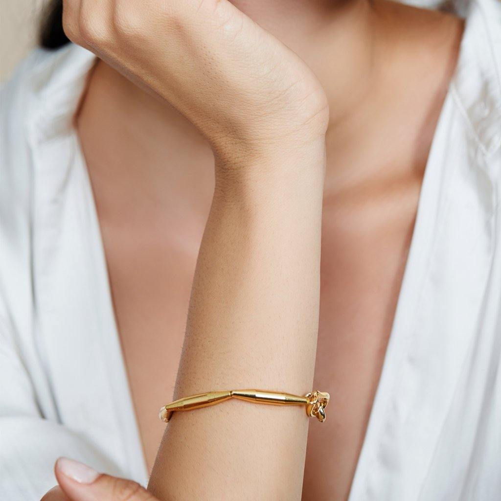 LUMIA MAIA SINGLE CHAIN BRACELET IN GOLD - Tohum Design