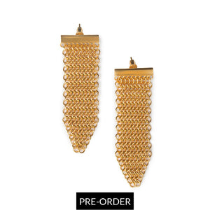 MATA RAIA EARRINGS III IN GOLD - Tohum Design