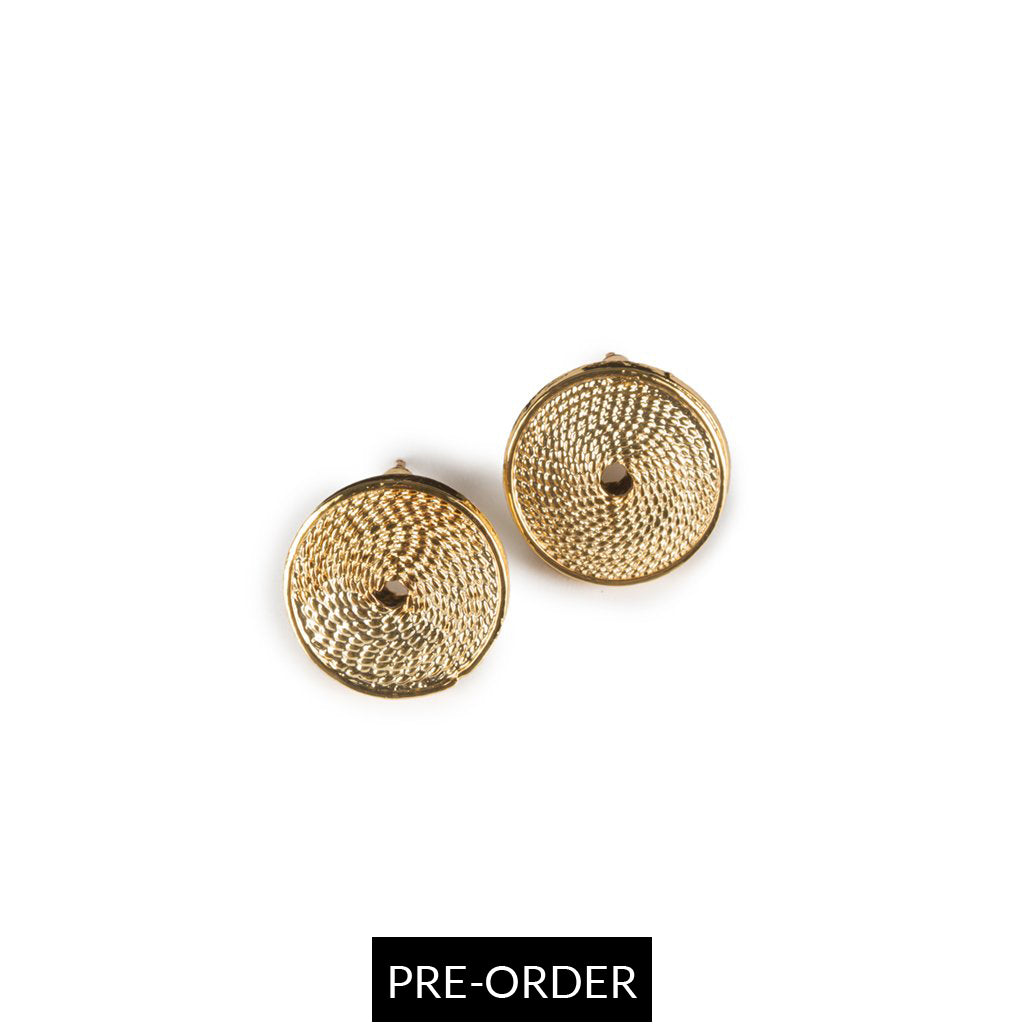 MATA RICA EARRINGS II IN GOLD - Tohum Design