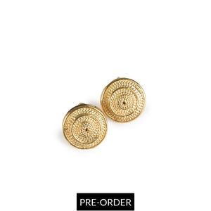 MATA RICA EARRINGS IN GOLD - Tohum Design
