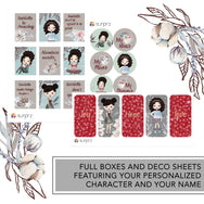 Forest whisper romantic girl planner stickers kit