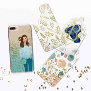 4-in-1 swappable Whimsical bliss gradient personalized iPhone case