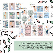 Whimsical bliss fashion girl planner stickers kit