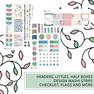 Whimsical bliss romantic girl planner stickers kit