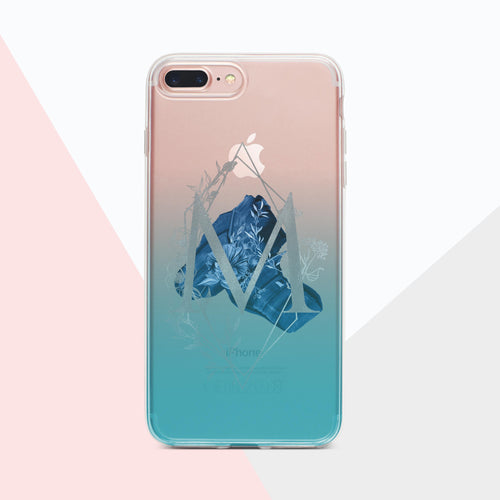 Monogram ombre and foil iPhone case