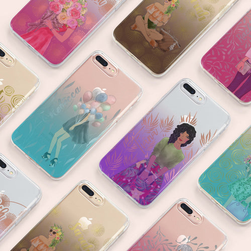 4-in-1 swappable Gypsy soul gradient personalized iPhone case