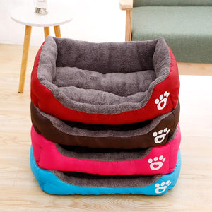 Pet Large Dog Bed Warm House Candy-colored Square Nest