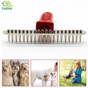 Pet Dog Grooming  Cat Steel Pins Hair Grooming Trimmer Rake Comb