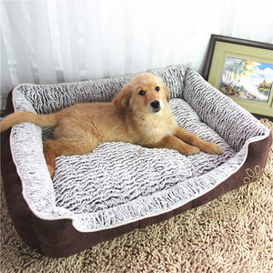 Luxury large dog bed sofa dog cat pet cushion for Mat House Cot Pet Bed House Big Blanket Cushion Basket Supplies for large dogs