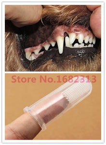 2015 Super Soft Pet Finger Toothbrush Teddy Dog Brush Bad Breath Tartar Teeth Care Dog Cat Cleaning Supplies