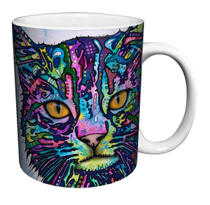 Cat mugs art coffee mugs Black cold hot changing color Heat Reactive Tea Cups white mug Dishwasher&Microwave Safe