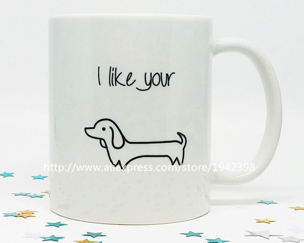 Wiener Dog, Dog Lover custom photo coffee mugs printing printed travel mug novelty