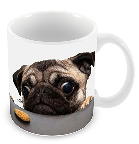 pug mugs dog mug coffee mugs pet lovers Tea  ceramic mugen porcelain mug home decal cookie monsters kid funny novelty kid