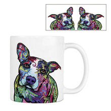 Fashion Pitbull Coffee Mug Funny Dog White Ceramic Creative Animal Tea Mugs Customize Birthday Gifts For Family Friends Children