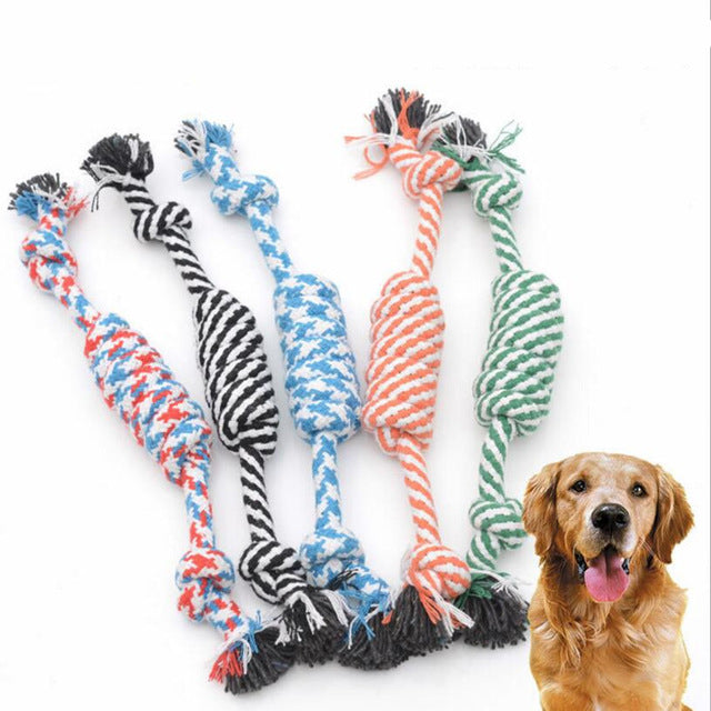 1pcs Pet Toys for dog Chew  Knot Cotton Rope Bone Puppy Dog chew