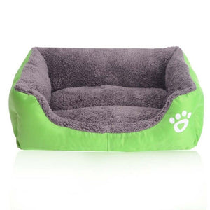 Summer Rectangle Candy Colored Dog Beds Soft Warm Pet House Kennel Breathable Cool Mat Cushions For Small Large Dogs Cats S-3XL